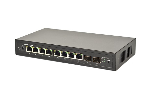 8-Port Gigabit PoE+ with 2 SFP Switch